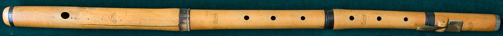 Early Musical Instruments, antique boxwood Flute by Noblet Fr�res