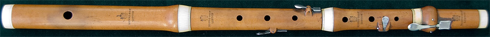Early Musical Instruments, antique boxwood Flute by Monro & May