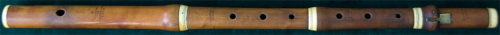 Early Musical Instruments, antique boxwood Flute by Christopher Gerock
