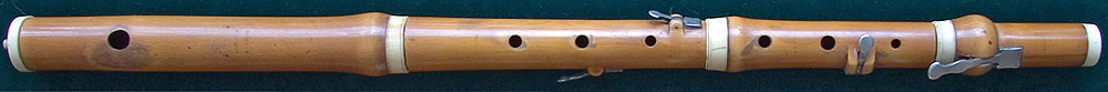 Early Musical Instruments, antique boxwood Flute by Bainbridge & Wood