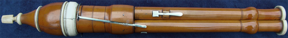Early Musical Instruments, antique ivory mounted boxwood Flageolet by Bainbridge