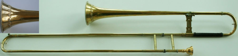 Early Musical Instruments, copy of an antique Sackbut by Jurgen Voigt