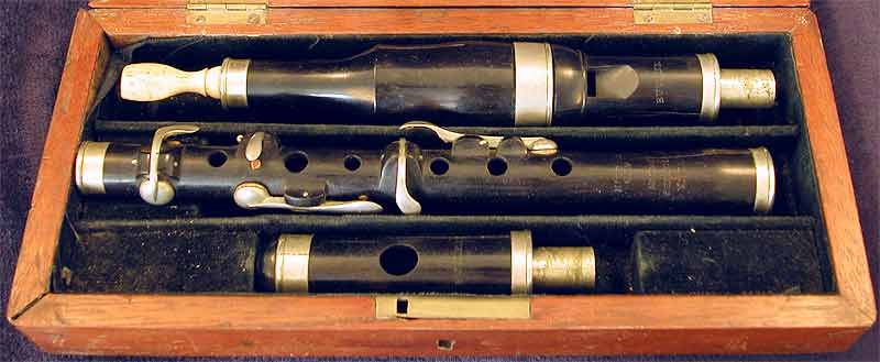 Early Musical Instruments, antique ebony Flageolet by Butler