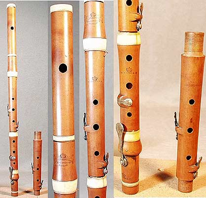 Early Musical Instruments, antique boxwood Flute by Goulding & D'Almaine