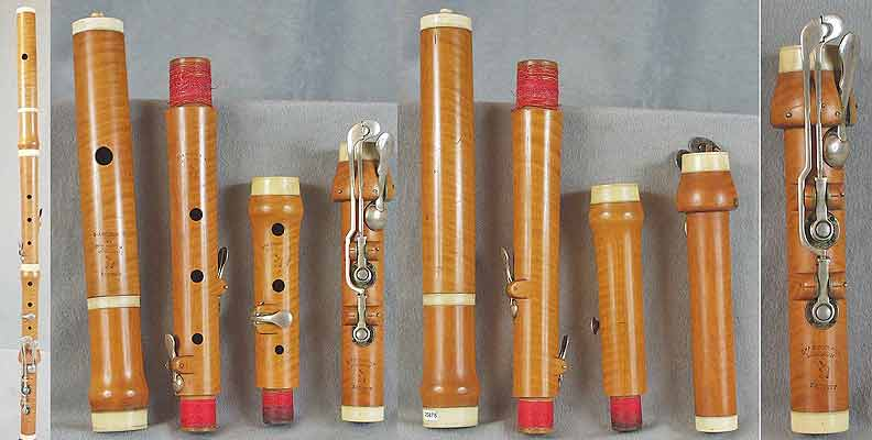Early Musical Instruments, antique boxwood Flute by G. Astor