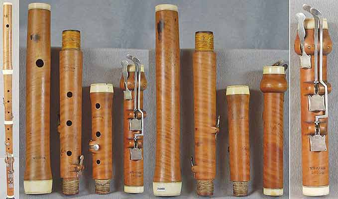 Early Musical Instruments, antique boxwood Flute by Weaver