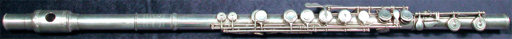 Early Musical Instruments, antique silver Flute by Rudall, Rose, Carte & Co.